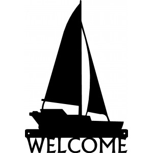 Sailboat #01 Welcome Sign