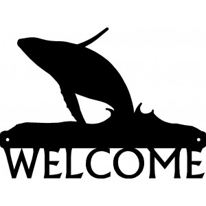Humpback Whale Breaching- Welcome Sign