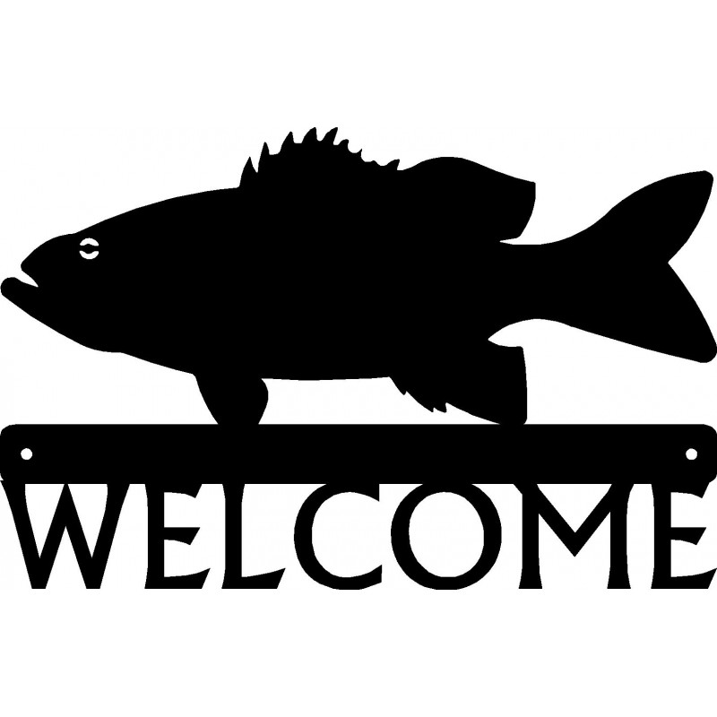 Bass Fish Welcome Sign