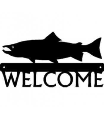 Salmon Fish Welcome Sign