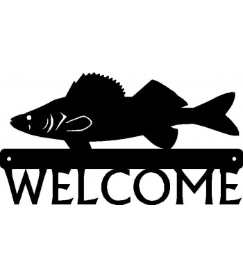 Walleye Fish Welcome Sign