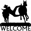 Bulldogging Rodeo/ Ranch Cowboy Western Welcome Sign