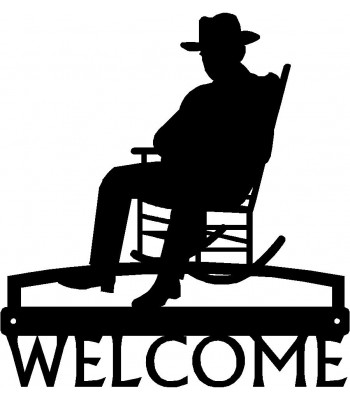 """Old Timer"" Cowboy Western Welcome Sign"
