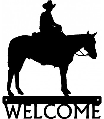 Cowboy Rider #01 Western Welcome Sign