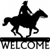 Cowboy Rider #02 Western Welcome Sign