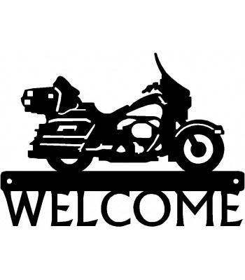 Touring Motorcycle #3 Welcome Sign