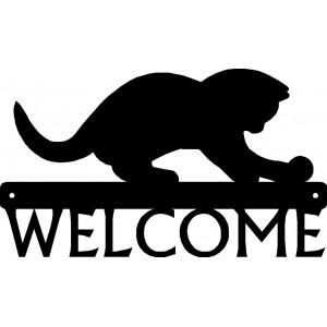 Cat #01 Welcome Sign