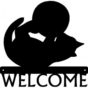 Cat #10 Welcome Sign