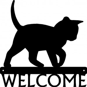 Cat #14 Welcome Sign