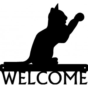 Cat #15 Welcome Sign