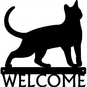 Cat #17 Welcome Sign