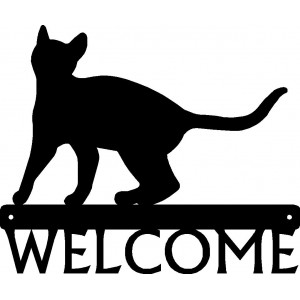 Cat #18 Welcome Sign