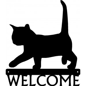 Cat #02 Welcome Sign