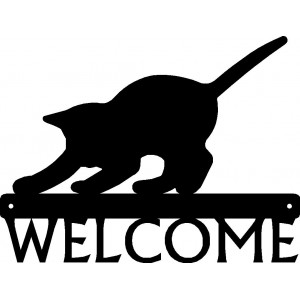 Cat #20 Welcome Sign