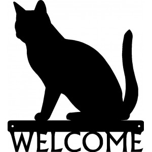 Cat #03 Welcome Sign