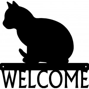 Cat #07 Welcome Sign