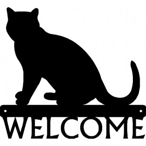 Cat #08 Welcome Sign