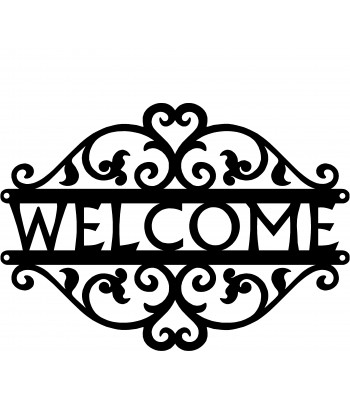 Double Vine Welcome Sign