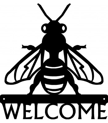 Honey Bee Welcome Sign