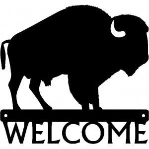 Bison/ Buffalo Welcome Sign