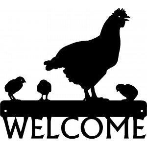 Hen & Chicks - Chicken Welcome Sign