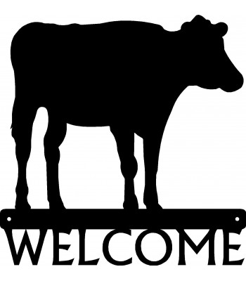 Cow #02  Welcome Sign