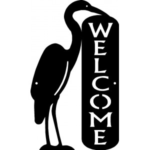 Crane/ Heron Welcome Sign