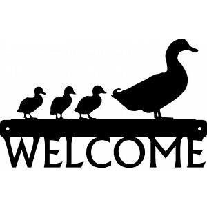 Duck & 3 Ducklings Welcome Sign