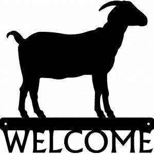 Horned Goat #01 Welcome Sign