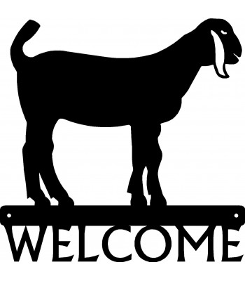Nubian Goat Welcome Sign