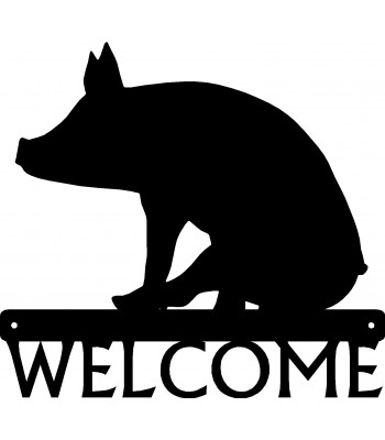 Pig/ Piglet Sitting Welcome Sign
