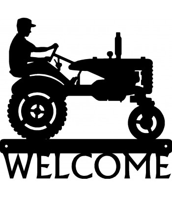 Tractor & Farmer Welcome Sign