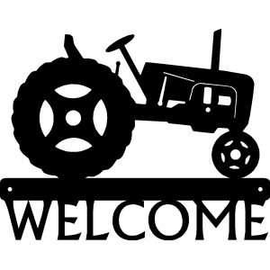 Tractor #28 Welcome Sign