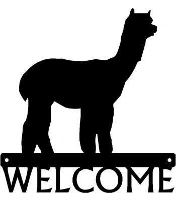 Alpaca Welcome Sign