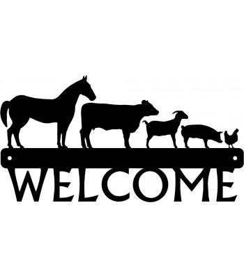 Farm Animal Welcome Sign