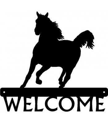 Horse #4 Welcome Sign