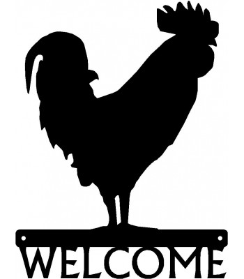 Rooster  #02 Welcome Sign