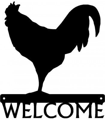 Rooster #3 Welcome Sign