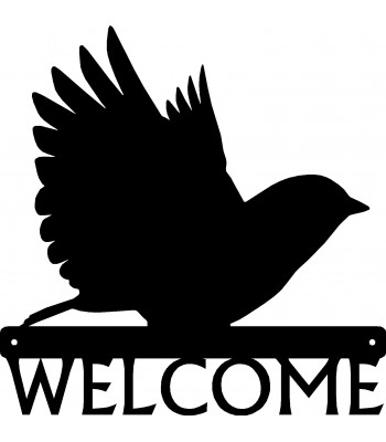 Bluebird Bird Welcome Sign