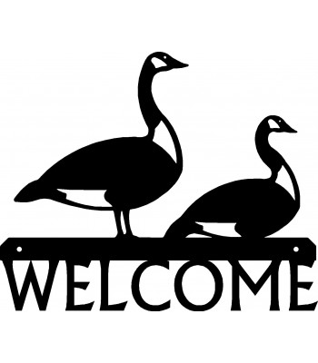 Canadian Geese Welcome Sign