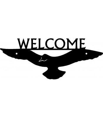 Dove Bird Welcome Sign
