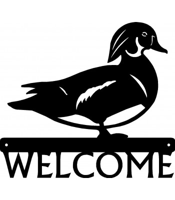 Wood Duck Bird Welcome Sign