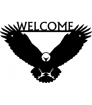 Eagle Bird Welcome Sign