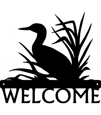 Loon in Grass Bird Welcome Sign