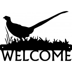 Pheasant #03 Bird Welcome Sign