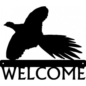 Pheasant #04 Bird Welcome Sign