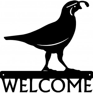Quail Bird Welcome Sign