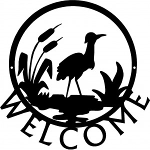Crane/ Heron Bird Welcome Sign