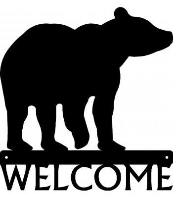 Bear #01 Welcome Sign