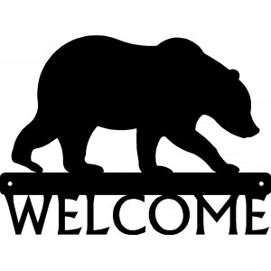 Bear #02 Welcome Sign